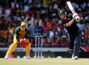 Craig Kieswetter raced to his first fifty of the tournament as England took charge, England v Australia, ICC World Twenty20 final, Barbados, May 16, 2010
