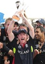 Paul Collingwood holds aloft the ICC World Twenty20 trophy