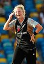Lucy Doolan reacts with amazement as Aimee Watkins clings onto an impressive one-handed catch, Australia Women v New Zealand Women, Final, Women's World Twenty20, Bridgetown, May 16, 2010