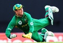 AB de Villiers throws at the stumps, West Indies v South Africa, 1st ODI, Antigua, May 22, 2010