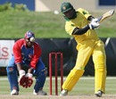 Marlon Samuels hits out, USA v Jamaica, 2nd Twenty20, Lauderhill, Florida, May 23, 2010