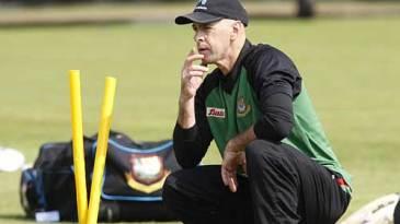 Jamie Siddons ponders his options during training