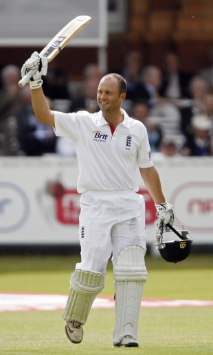 Jonathan Trott acknowledges the applause after reaching his century, England v Bangladesh, 1st Test, Lord's, May 27, 2010