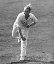 Eric Hollies bowls, England v Australia, 5th Test, The Oval, 2nd day, August 16, 1948