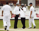 The umpires check for bad light, England v Bangladesh, 1st Test, Lord's, 3rd day, May 29, 2010