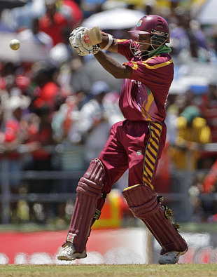 Shivnarine Chanderpaul shapes to play the pull, West Indies v South Africa, 4th ODI, Dominica, May 30, 2010