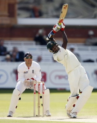 Jahurul Islam mixed careful defence with all-out attack in his innings, England v Bangladesh, 1st Test, Lord's, May 30, 2010