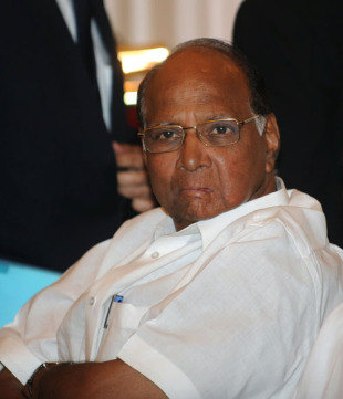 ICC president-elect Sharad Pawar at a meeting in Delhi, June 4, 2010