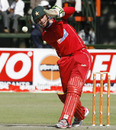 Brendan Taylor drives through mid on, Zimbabwe v Sri Lanka, Tri-Series, 6th match, Harare, June 7, 2010