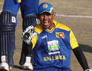 Tillakaratne Dilshan celebrates leading the side to the title
