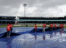 Persistent rain delayed the start of the first Test at Queen's Park Oval, West Indies v South Africa, 1st Test, Port of Spain, June 10, 2010