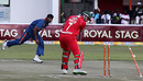 Ashok Dinda sends Ray Price's off stump for a walk