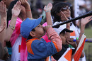 A young Indian fan turns up at the Harare Sports Club