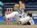 Travis Dowlin was left sprawling on the ground after evading a bouncer from Morne Morkel