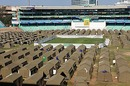 Australian football fans camp at Kingsmead during the World Cup, Durban, June 13, 2010