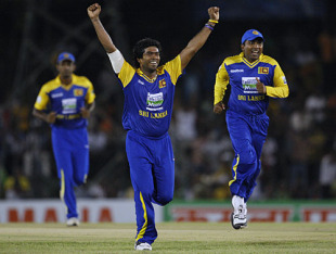 Lasith Malinga's stupendous five-wicket haul overcame a special ton from Shahid Afridi to give Sri Lanka victory in Dambulla