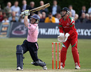 Eoin Morgan aims for the stands, Middlesex v Glamorgan, Friends Provident t20, Richmond, June 15, 2010