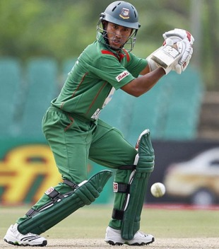 Mohammad Ashraful plays one behind square on the off side, Bangladesh v India, 2nd ODI, Asia Cup, Dambulla, June 16, 2010