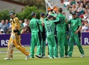 Ireland celebrate as Shane Watson departs early, Ireland v Australia, Only ODI, Dublin, June 17, 2010