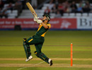 Matthew Wood finished the game in style for Nottinghamshire, Derbyshire v Nottinghamshire, Friends Provident t20, Derby