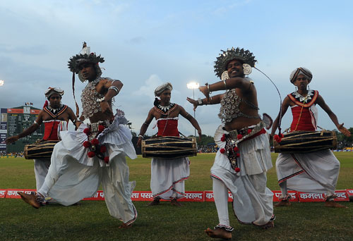 Kandyan dancers add a touch of local flavour to the proceedings