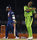 Shoaib Akhtar tested the Indian batsmen, India v Pakistan, 4th ODI, Asia Cup, Dambulla, June 19, 2010