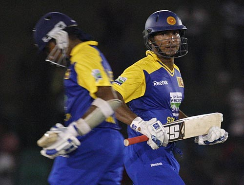 Kumar Sangakkara and Mahela Jaywardene added 104