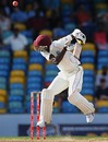 Brandon Bess is welcomed to international cricket, West Indies v South Africa, 3rd Test, Barbados, 1st day, June 26, 2010