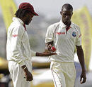 Chis Gayle with rookie fast bowler Brandon Bess, West Indies v South Africa, 3rd Test, Barbados, 2nd day, June 27, 2010