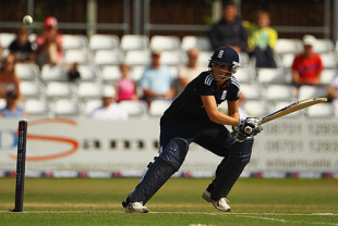 Charlotte Edwards anchored England's innings with a controlled 46, England Women v New Zealand Women, 1st T20I, Chelmsford, June 29, 2010