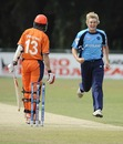 Matthew Parker celebrates as he removes Eric Szwarczynski, Netherlands v Scotland, ICC World Cricket League Division One, Amstelveen, July 1, 2010