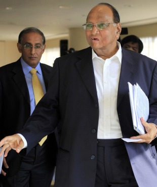 Sharad Pawar after being elected as the new ICC president, July 1, 2010
