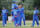 Afghanistan celebrate Khaliq Dad's dismissal of Paul Stirling, Afghanistan v Ireland, WCL Division One, Rotterdam, July 3, 2010