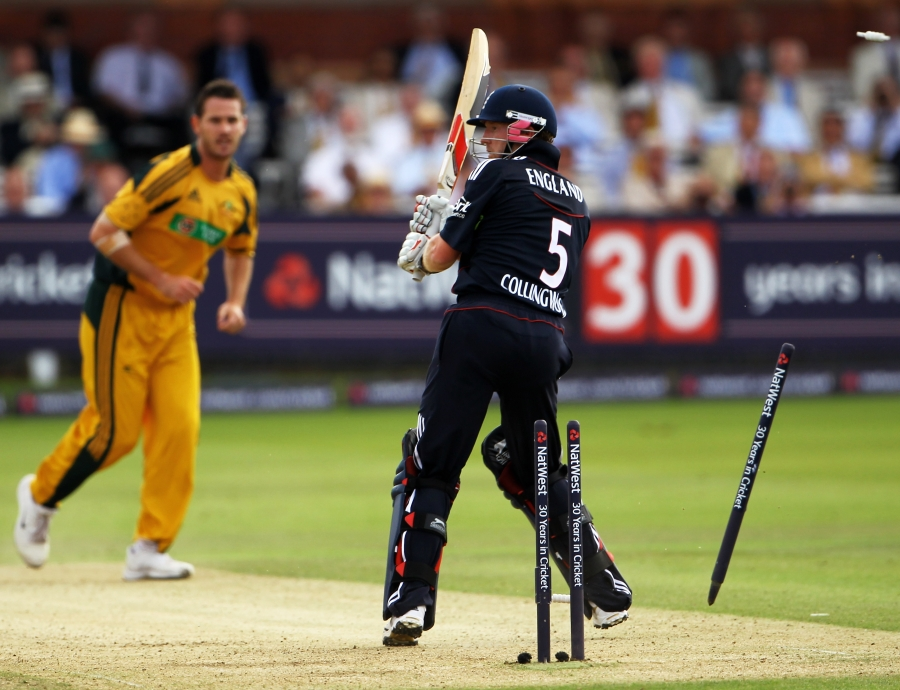 The match at Lord's in 2010 where Tait bowled a ball that clocked 161.1kph - the second fastest recorded delivery