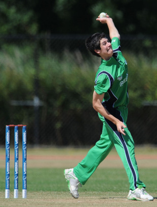 George Dockrell was impressive again for Ireland, Afghanistan v Ireland, ICC WCL Division 1, Rotterdam, July 4  2010