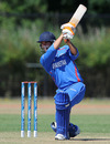 Shabir Noori plays an elegant cover drive during his 38, Afghanistan v Ireland, ICC WCL Division 1, Rotterdam, July 4  2010