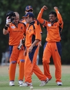 Adeel Raja celebrates one of his two wickets against Canada, Netherlands v Canada, ICC WCL Division 1, Rotterdam, July 5 2010