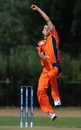 Mark Jonkman troubled Canada with three wickets, Netherlands v Canada, ICC WCL Division 1, Rotterdam, July 5 2010