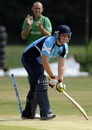 Scotland's Ollie Hairs is comprehensively bowled, Ireland v Scotland, ICC WCL Division 1, Voorburg, July 5, 2010