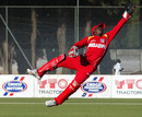Zimbabwe Under-19 keeper Kudzai Sauramba makes an athletic save, Zimbabwe Under-19 v South Africa Under-19, 2nd ODI, Harare, July 5, 2010