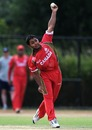 Canada's Hiral Patel in his delivery stride