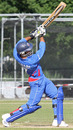 Mohammad Nabi hits out during his crucial 47, Afghanistan v Kenya, ICC WCL Division 1, Amstelveen, July 5, 2010