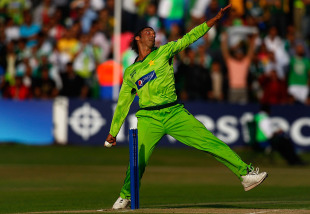 Shoaib Akhtar generated good pace and removed Tim Paine in his opening spell, Pakistan v Australia, 2nd Twenty20, Edgbaston, July 6 2010