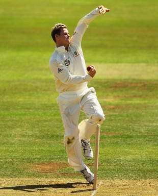 Steven Smith prepares to delivery, Derbyshire v Australians, Tour match, Derby, 2nd day, July 9, 2010