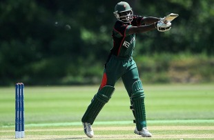 Maurice Ouma top scored with 38, Canada v Kenya, ICC World Cricket League Division 1, Schiedam, July 9, 2010