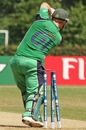 Ireland's Paul Stirling is bowled