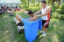 Canada's Manny Aulakh has an ice bath, Canada v Kenya, ICC World Cricket League Division 1, Schiedam, July 9, 2010