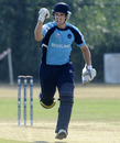 Gordon Goudie signals the win that took Scotland to the final, Afghanistan v Scotland, ICC WCL Division 1, Rotterdam, July 9, 2010