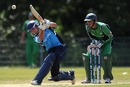 Preston Mommsen hits over the top, Ireland v Scotland, ICC World Cricket League Division 1 final, Amstelveen, July 10, 2010