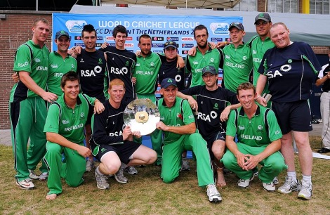 Ireland with the trophy